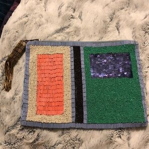 Beaded Anthropologie clutch